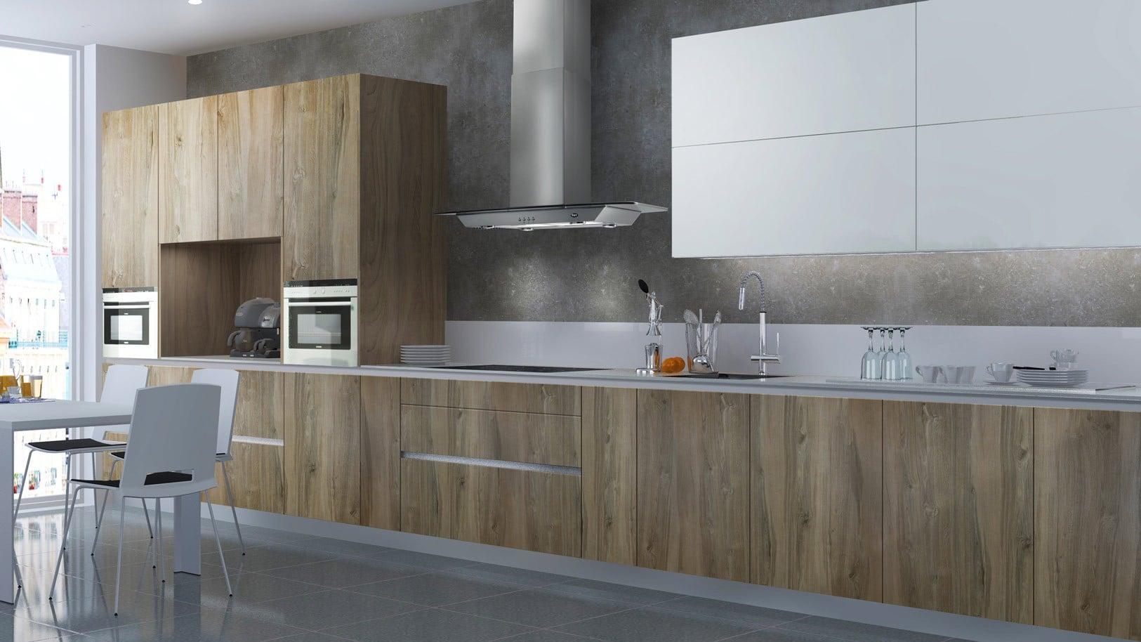 cocina laminada madera mate