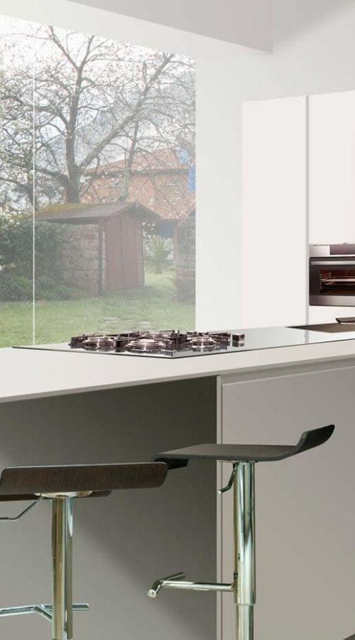 mueble de cocina con peninsula